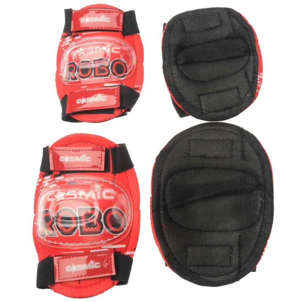 COSMIC Kids' Bike Helmet and Pad Set - RED/BLACK