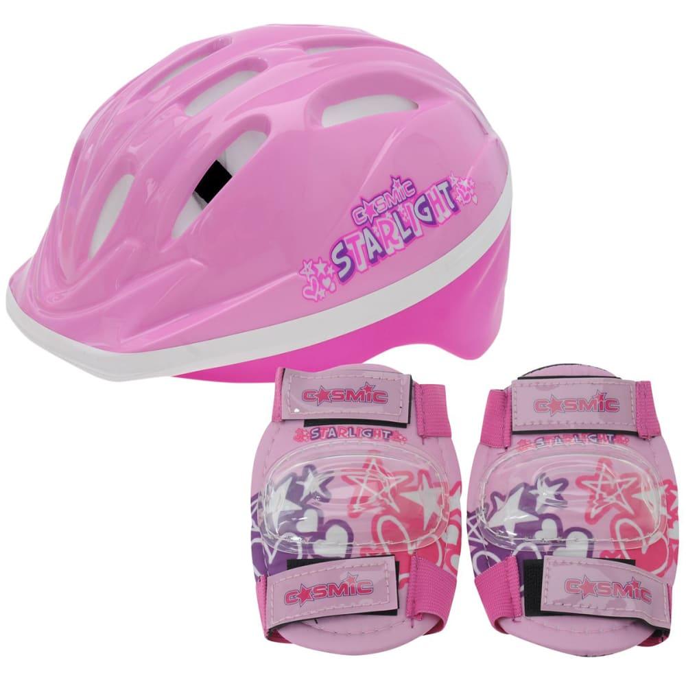 COSMIC Kids' Bike Helmet and Pad Set ONESIZE
