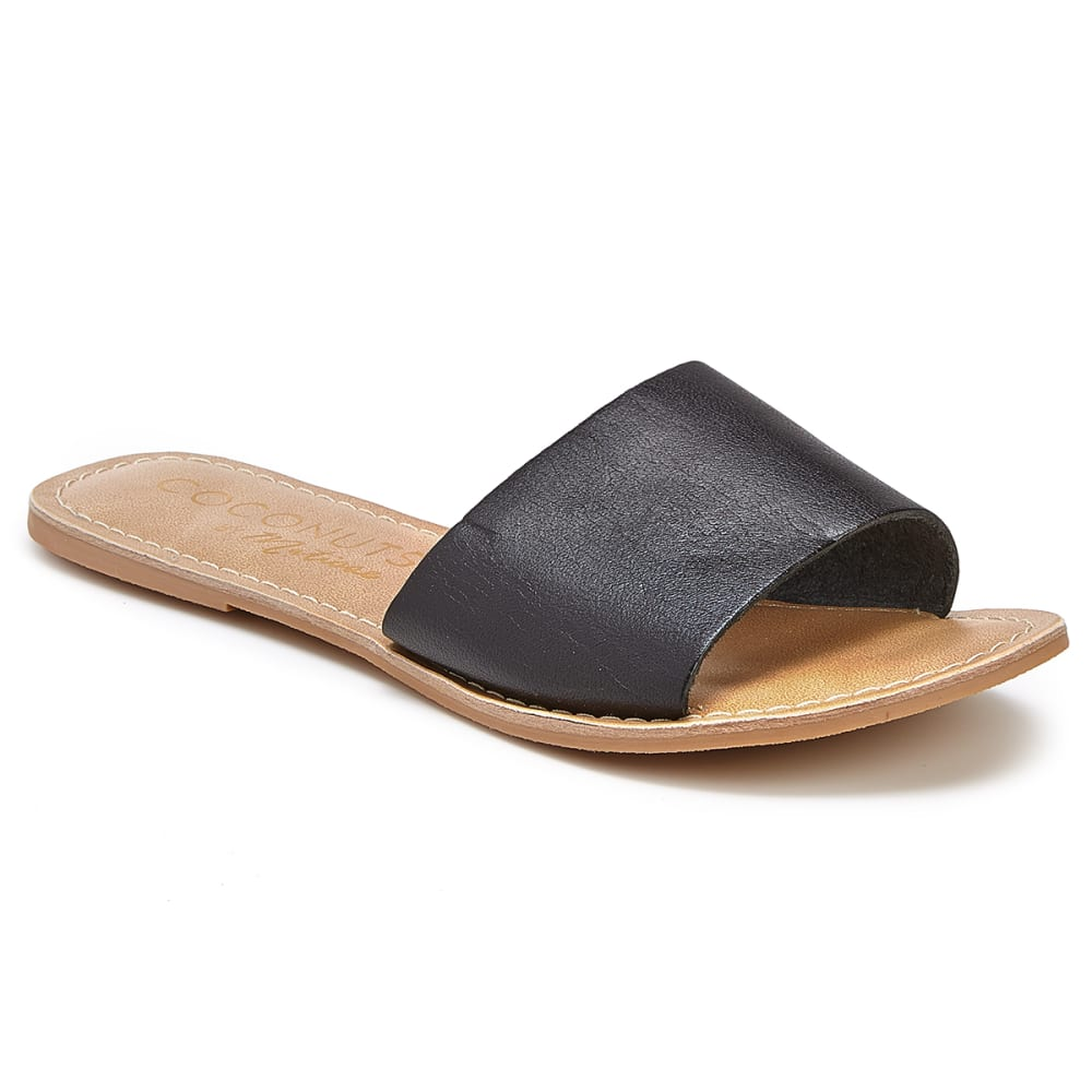 COCONUTS BY MATISSE Women's Cabana Slide Sandals - BLACK
