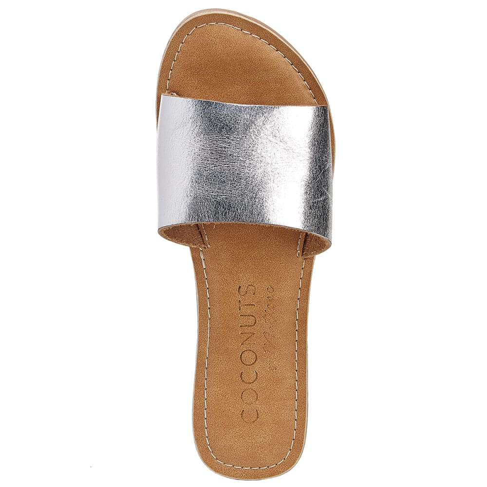 COCONUTS BY MATISSE Women's Cabana Slide Sandals - SILVER