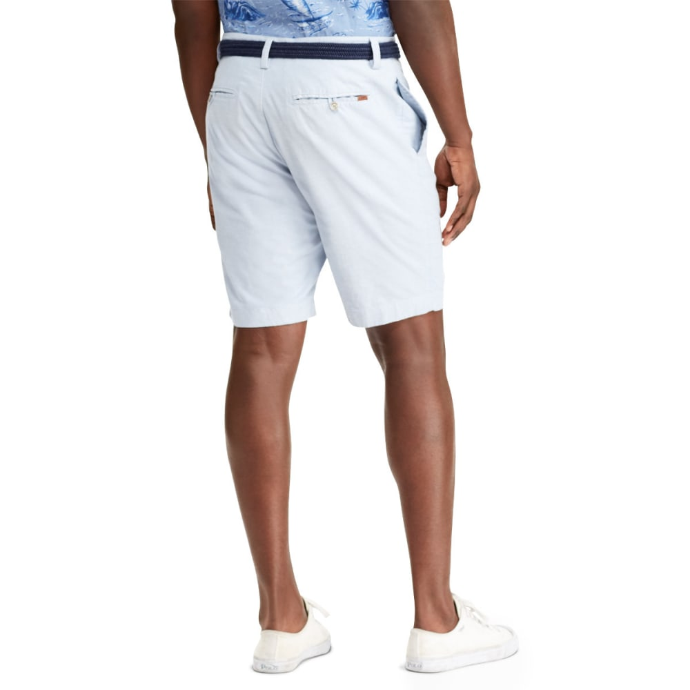 CHAPS Men's 10 in. Stretch Oxford Bermuda Shorts - 001-RETREAT BLUE MUL