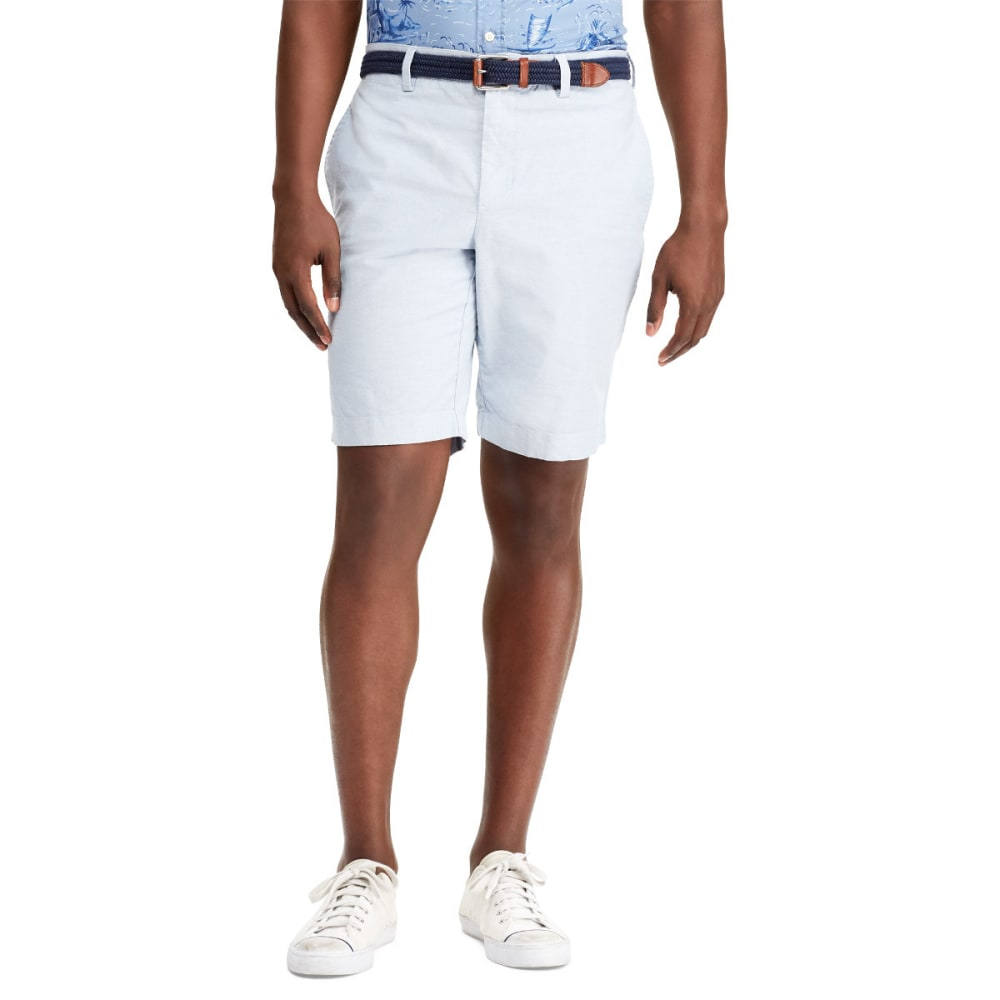 CHAPS Men's 10 in. Stretch Oxford Bermuda Shorts - 001-RETREAT BLUE MUL