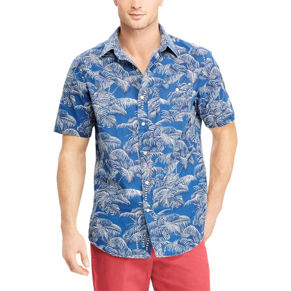 CHAPS Men's Palm Tree Sport Short-Sleeve Shirt - 001-CARLYLE BLUE MUL