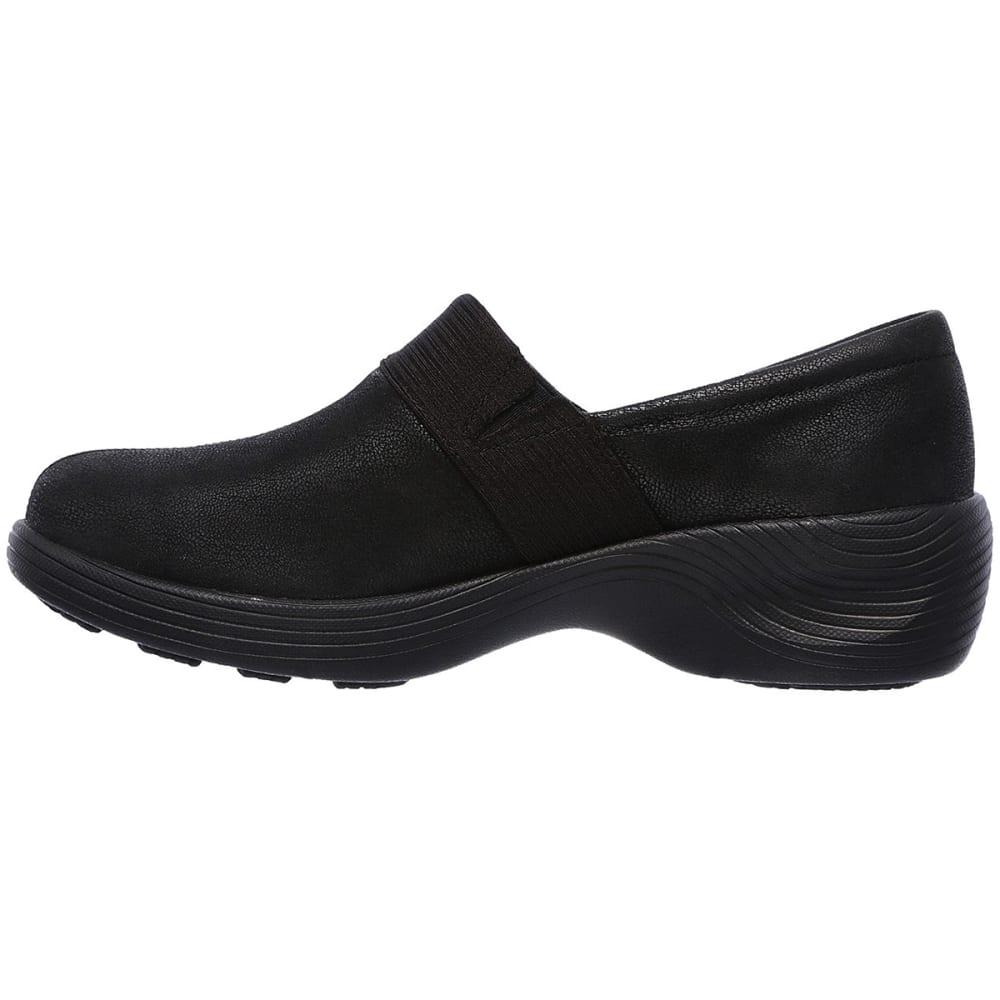 SKECHERS Women's Relaxed Fit: Gemma Casual Slip-On Shoes, Black - BLACK