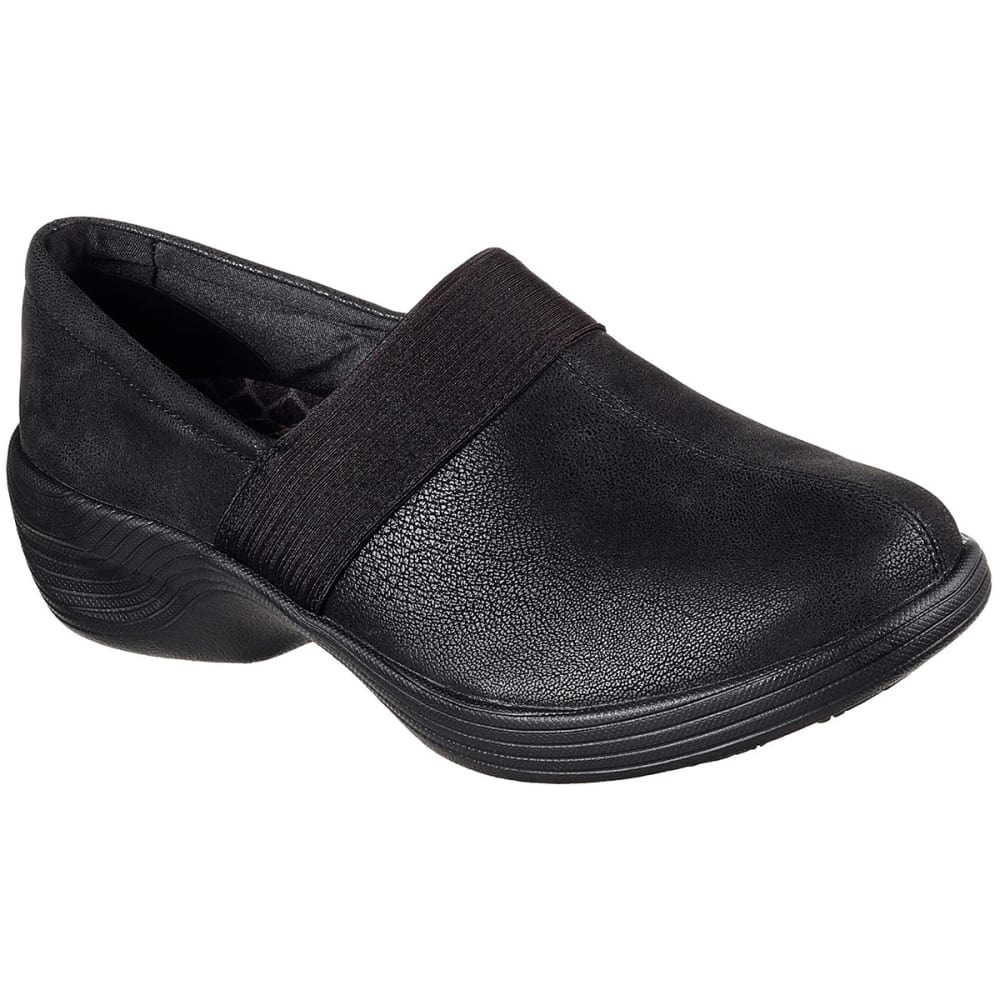 Skechers Women's Relaxed Fit: Gemma Casual Slip-On Shoes, Black