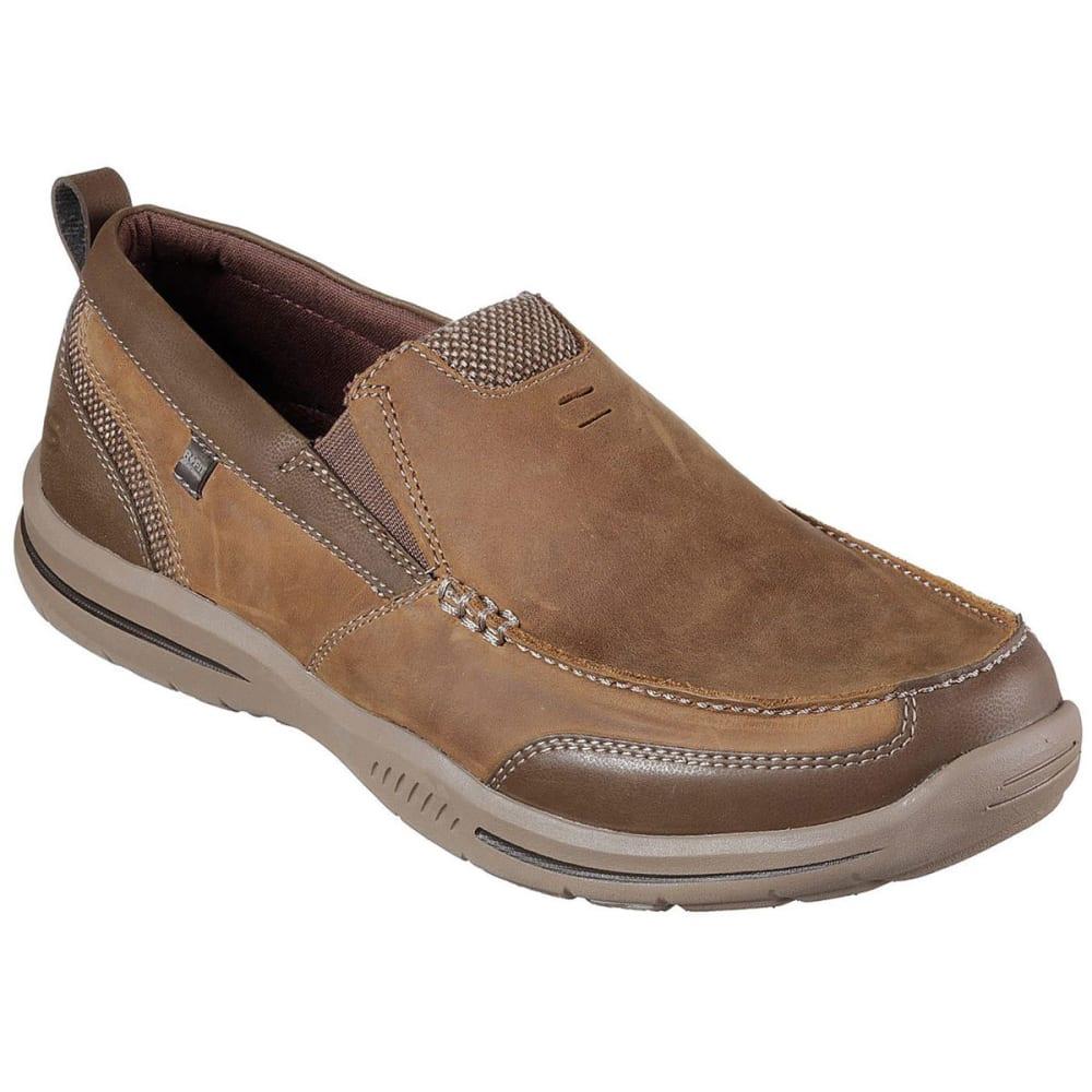 SKECHERS Men's Relaxed Fit: Elected – Brano Casual Slip-On Shoes, Desert - DESERT