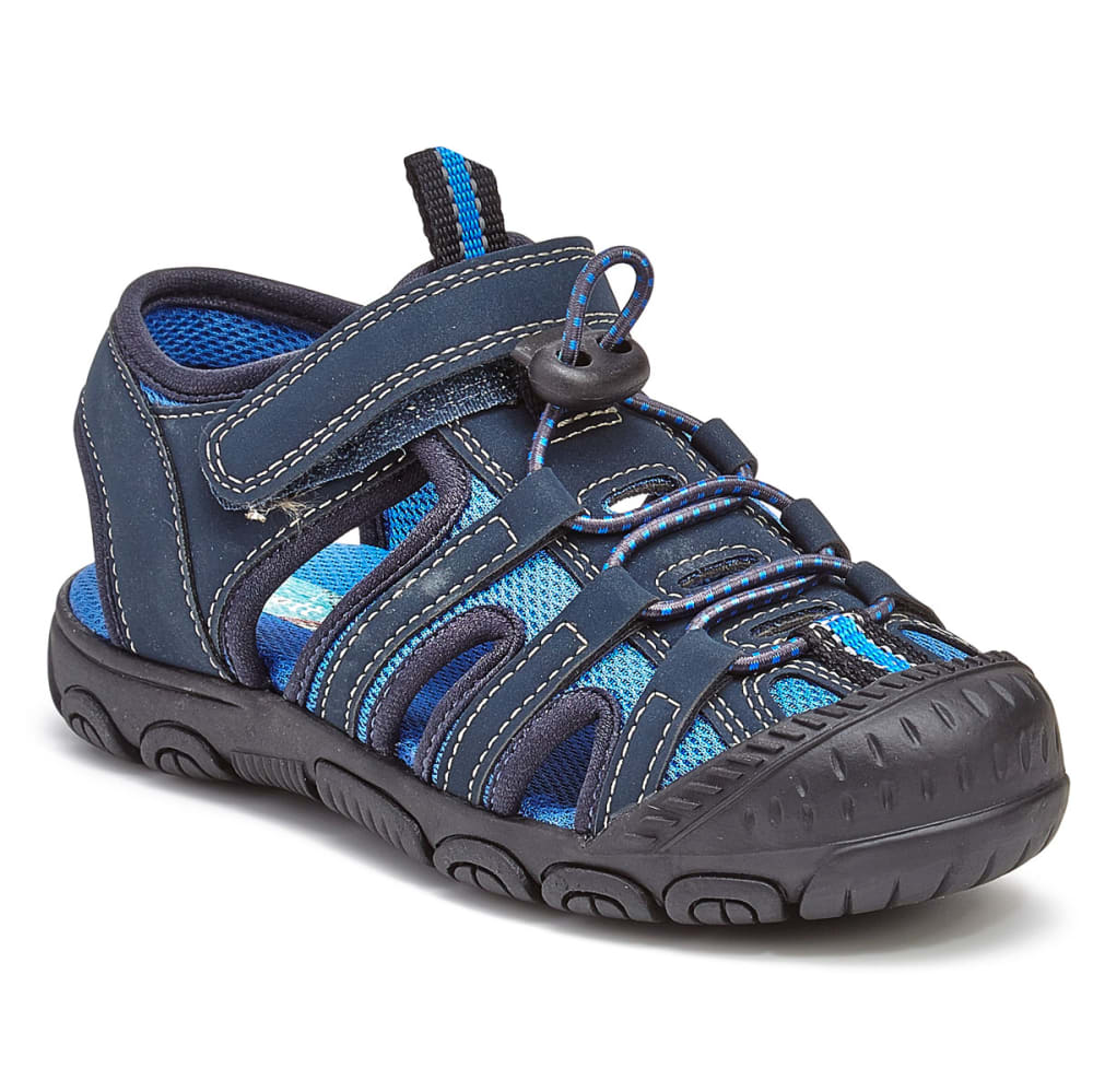 RACHEL SHOES Toddler Boys' Lil' Lucas Bump Toe Sandals - NAVY