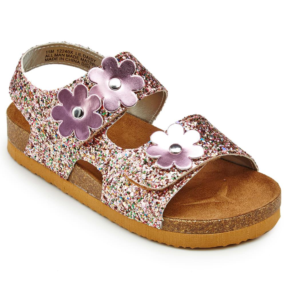 Rachel Shoes Toddler Girls' Daisy Glitter Sandals - Various Patterns, 7