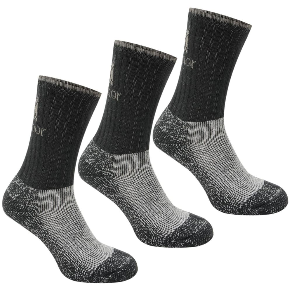 KARRIMOR Kids' Heavyweight Boot Socks, 3-Pack - BLACK