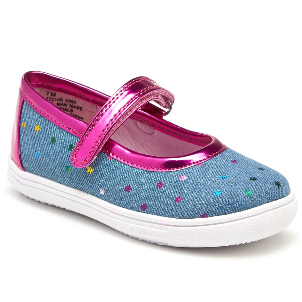 RACHEL SHOES Toddler Girls' Kira Stars Mary Jane Flats - DENIM/MULTI