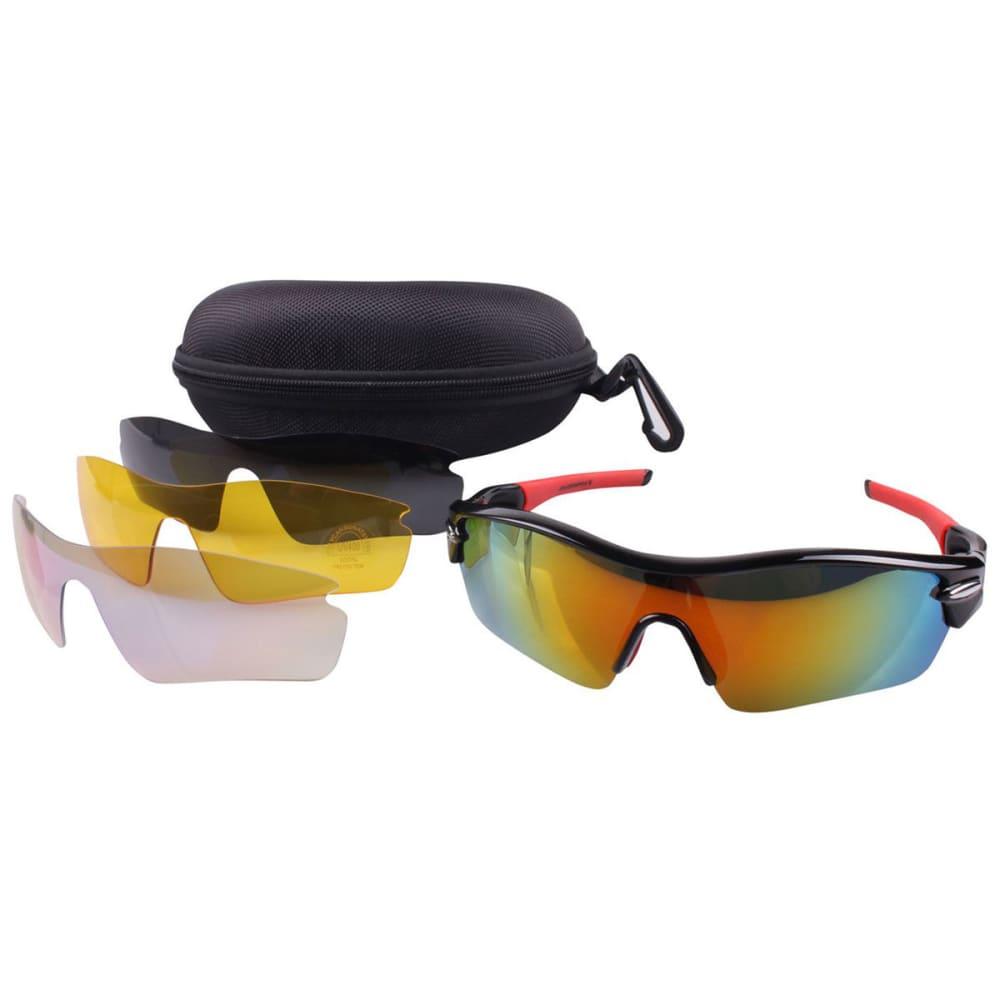 MUDDYFOX 300 Cycling Sunglasses - BLACK/RED