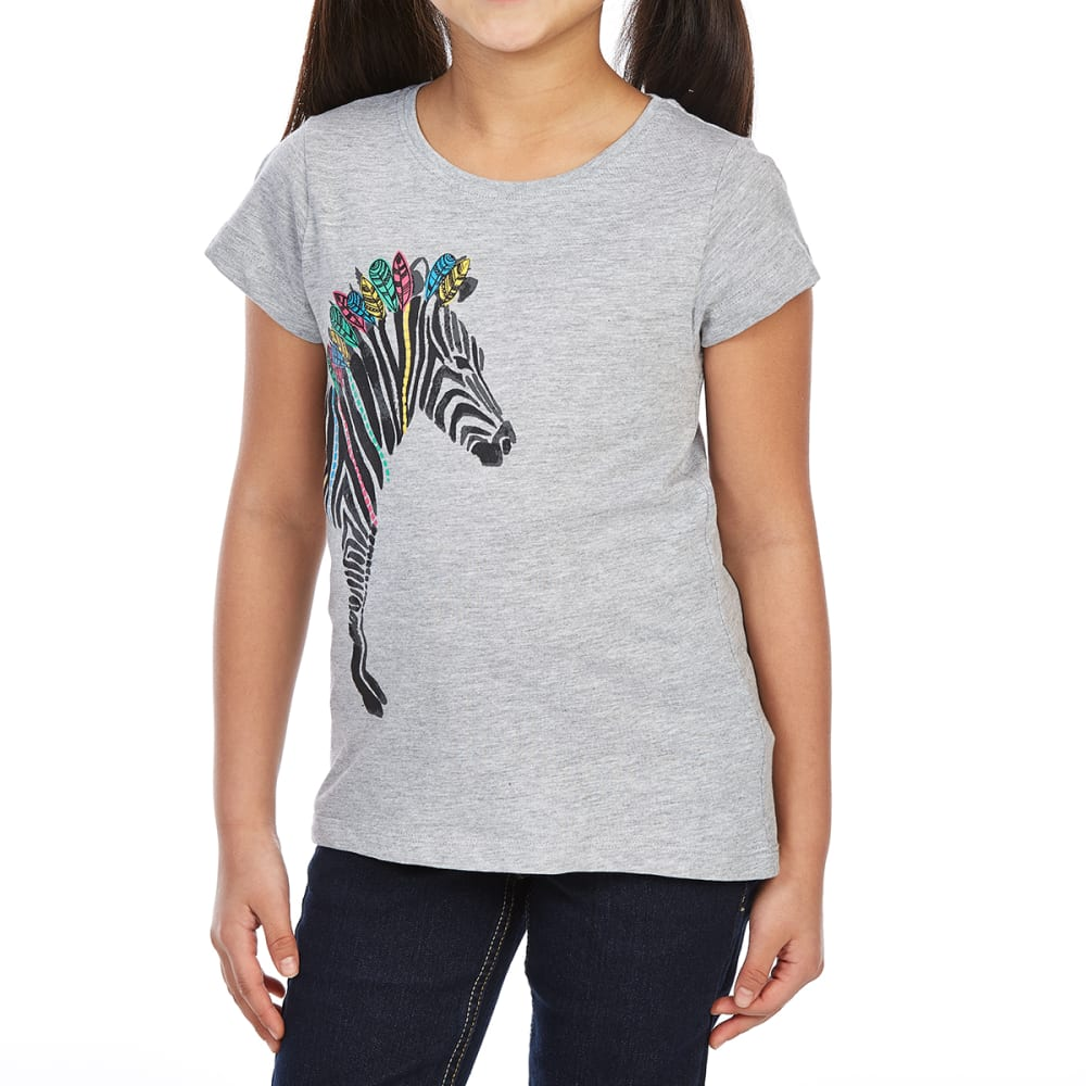 MINOTI Big Girls' Screen Short-Sleeve Tee - GBS5-ZEBRA GREY