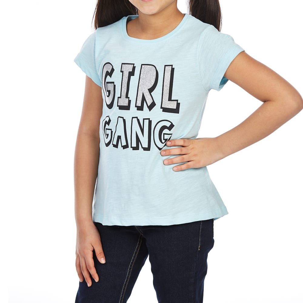 MINOTI Big Girls' Screen Short-Sleeve Tee - GBS6-GIRL GANG AQUA