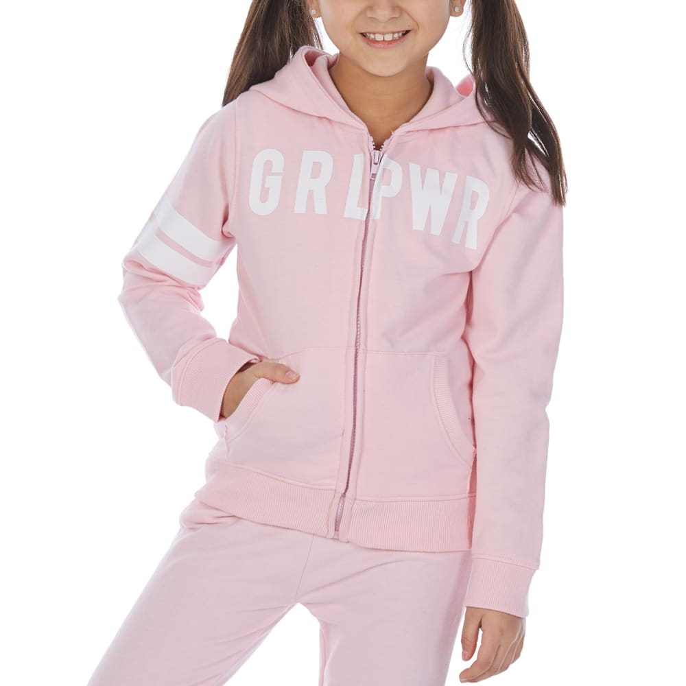 MINOTI Big Girls' Fleece Graphic Hoodie - GBS21-GIRL POWER PIN