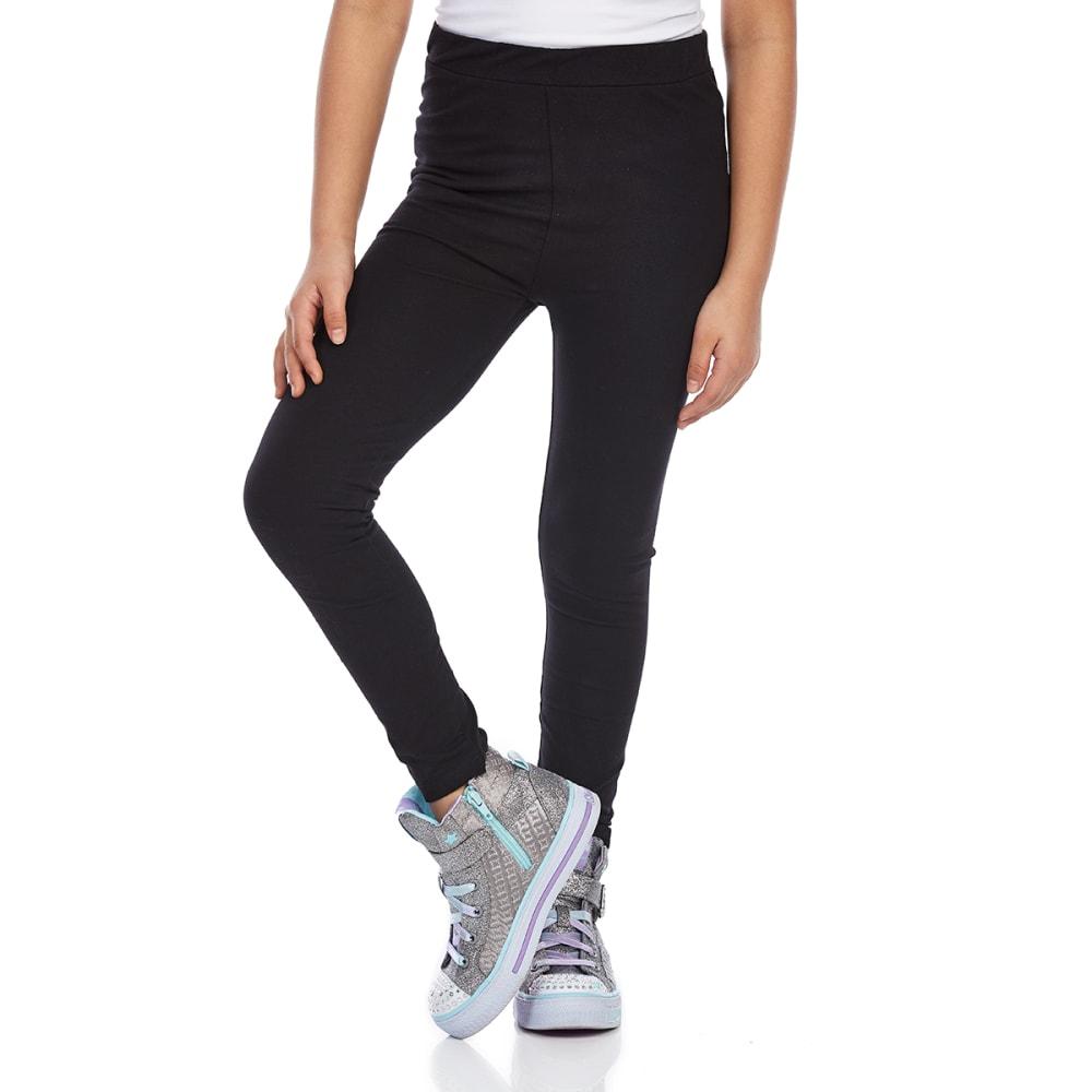 Minoti Big Girls' Basic Leggings - Black, 3-4
