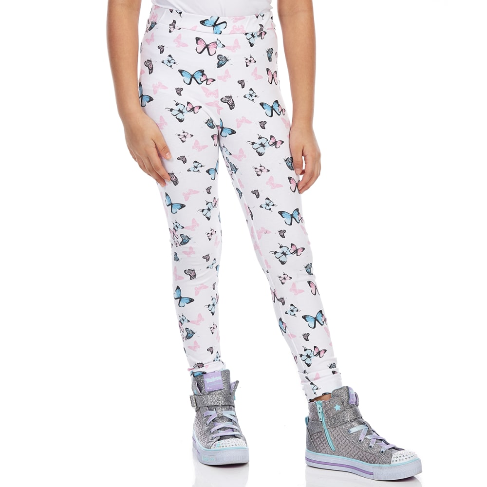 MINOTI Big Girls' Basic Leggings - GBS33-BUTTERFLY PRIN