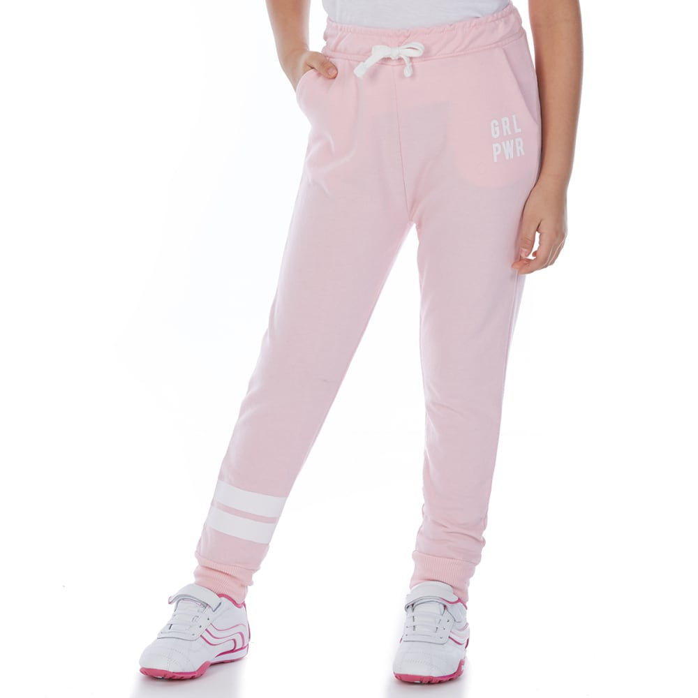 MINOTI Big Girls' Fleece Jogger Pants - GBS25-GIRL POWER PIN