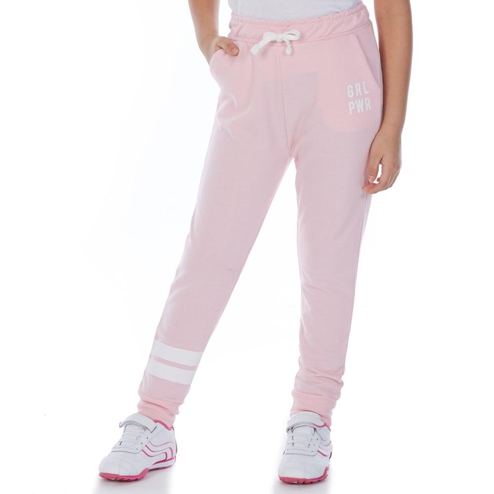 Minoti Big Girls' Fleece Jogger Pants - Red, 3-4