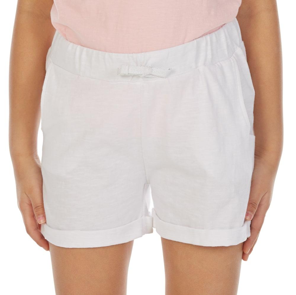 MINOTI Big Girls' Slub Jersey Shorts - GBS18-WHITE