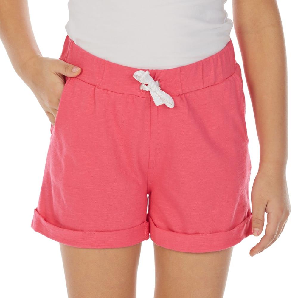 Minoti Big Girls' Slub Jersey Shorts - Red, 3-4