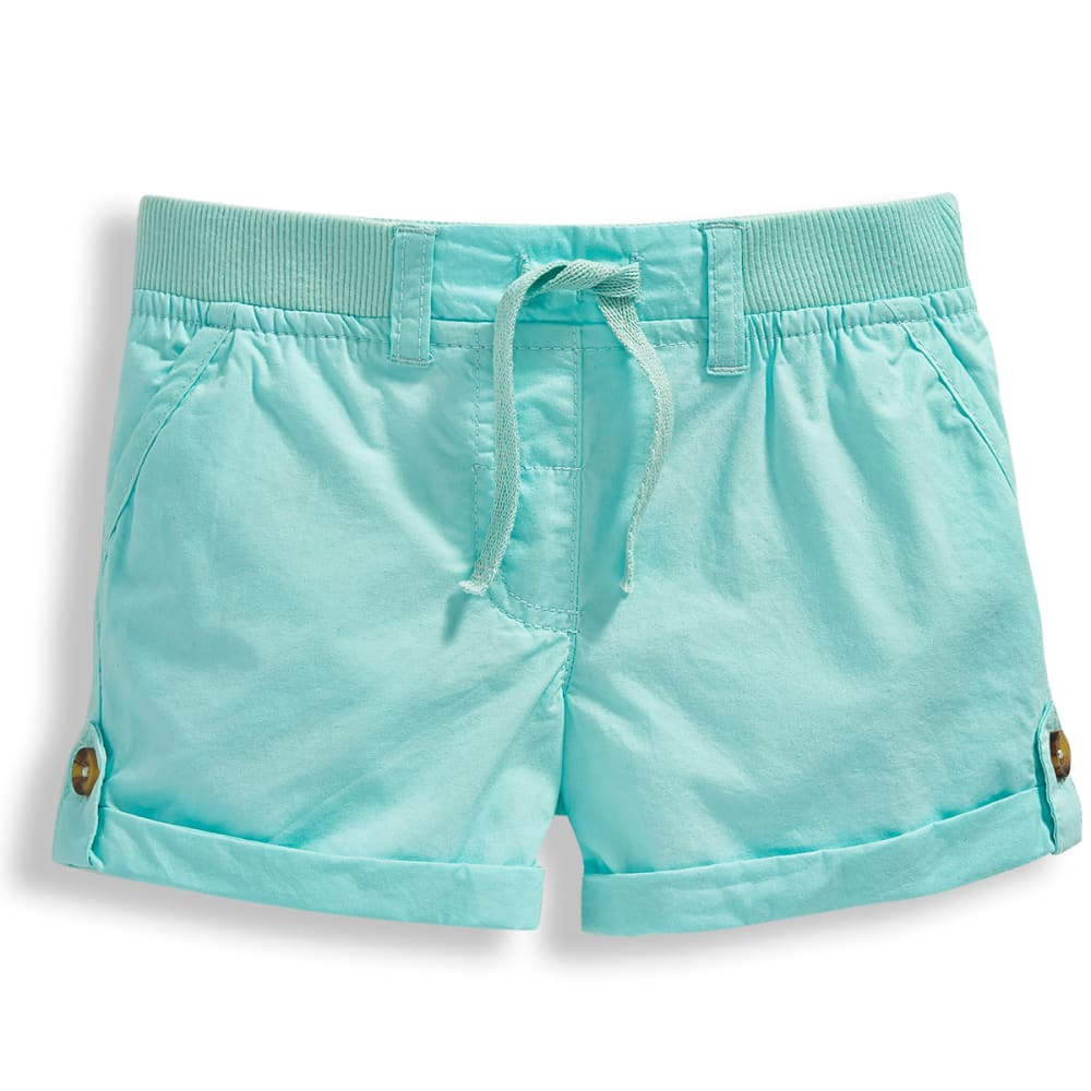 Minoti Girls' Woven Shorts - Green, 9-10