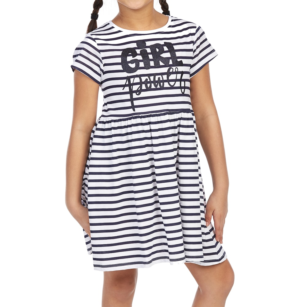 MINOTI Big Girls' Printed Dress - GBS41-GIRL POWER STR