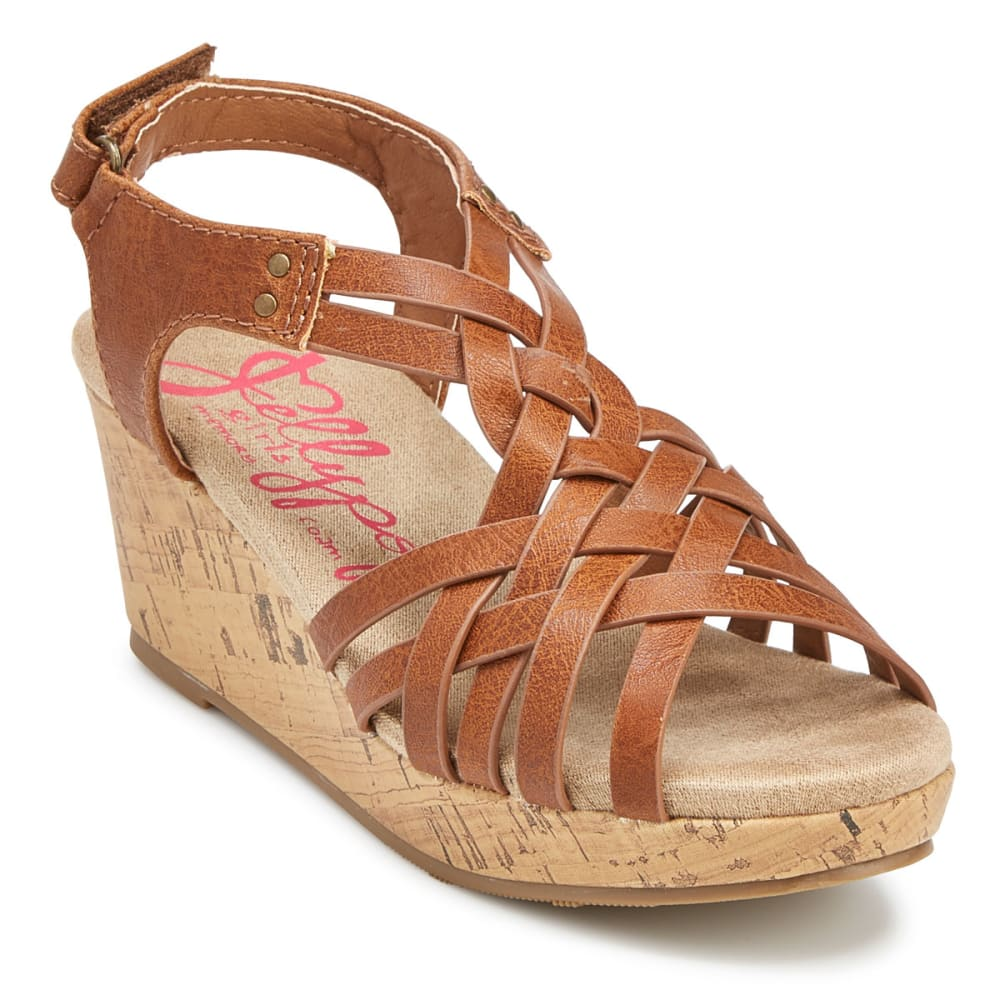 JELLYPOP Girls' Golden Wedge Sandals - COGNAC