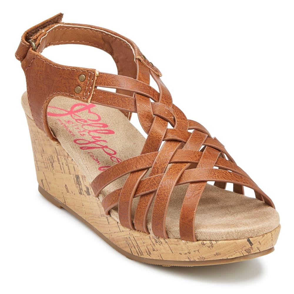 JELLYPOP Girls' Golden Wedge Sandals - COGNAC