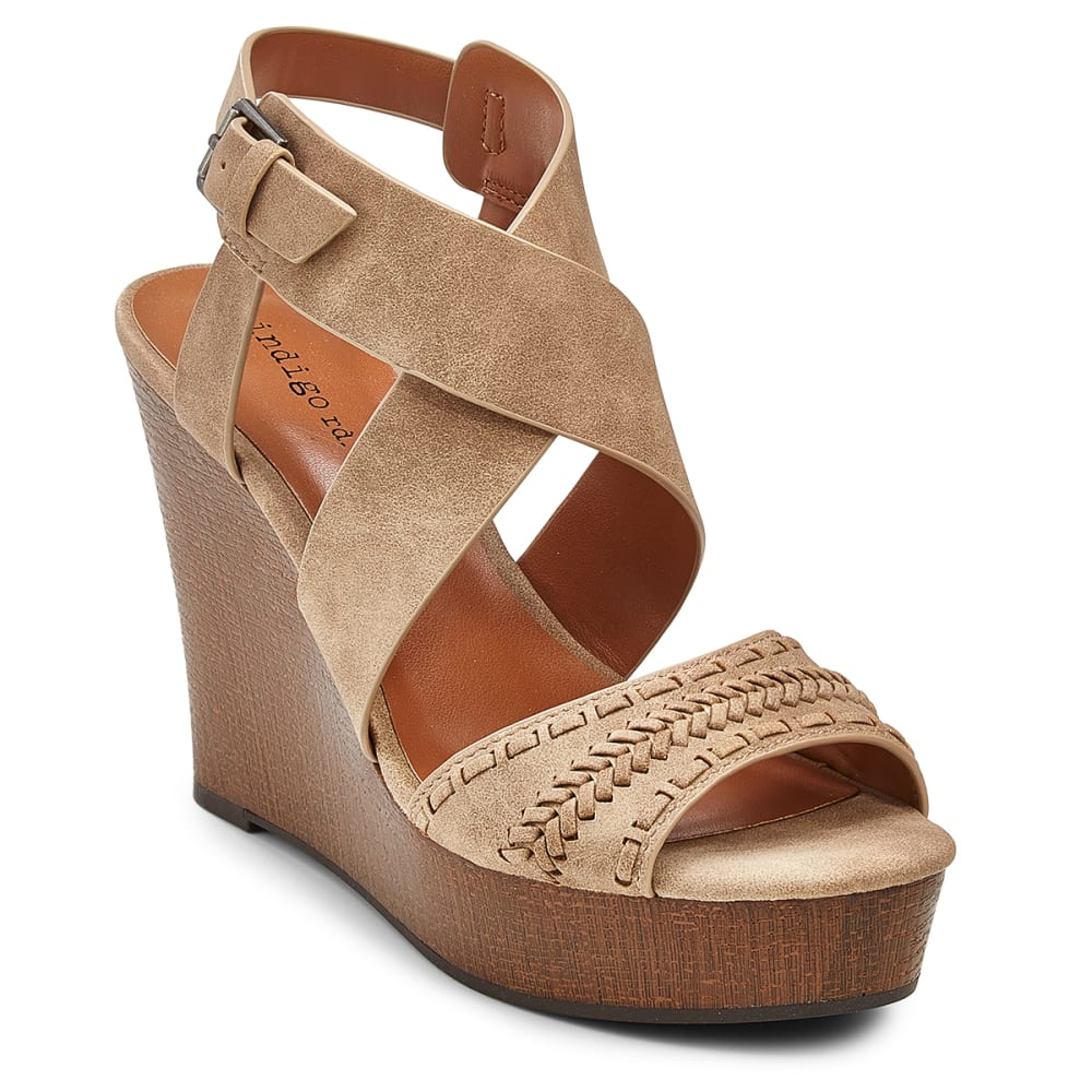 INDIGO RD Women's Kash Wedge Sandals - TAUPE