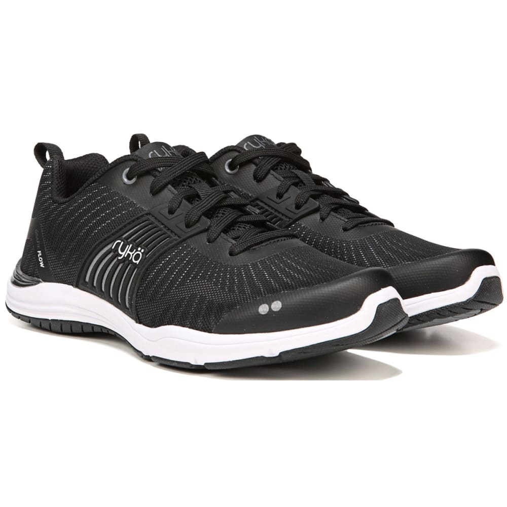 RYKA Women's Grafik Flow Training Shoes - BLACK-1001