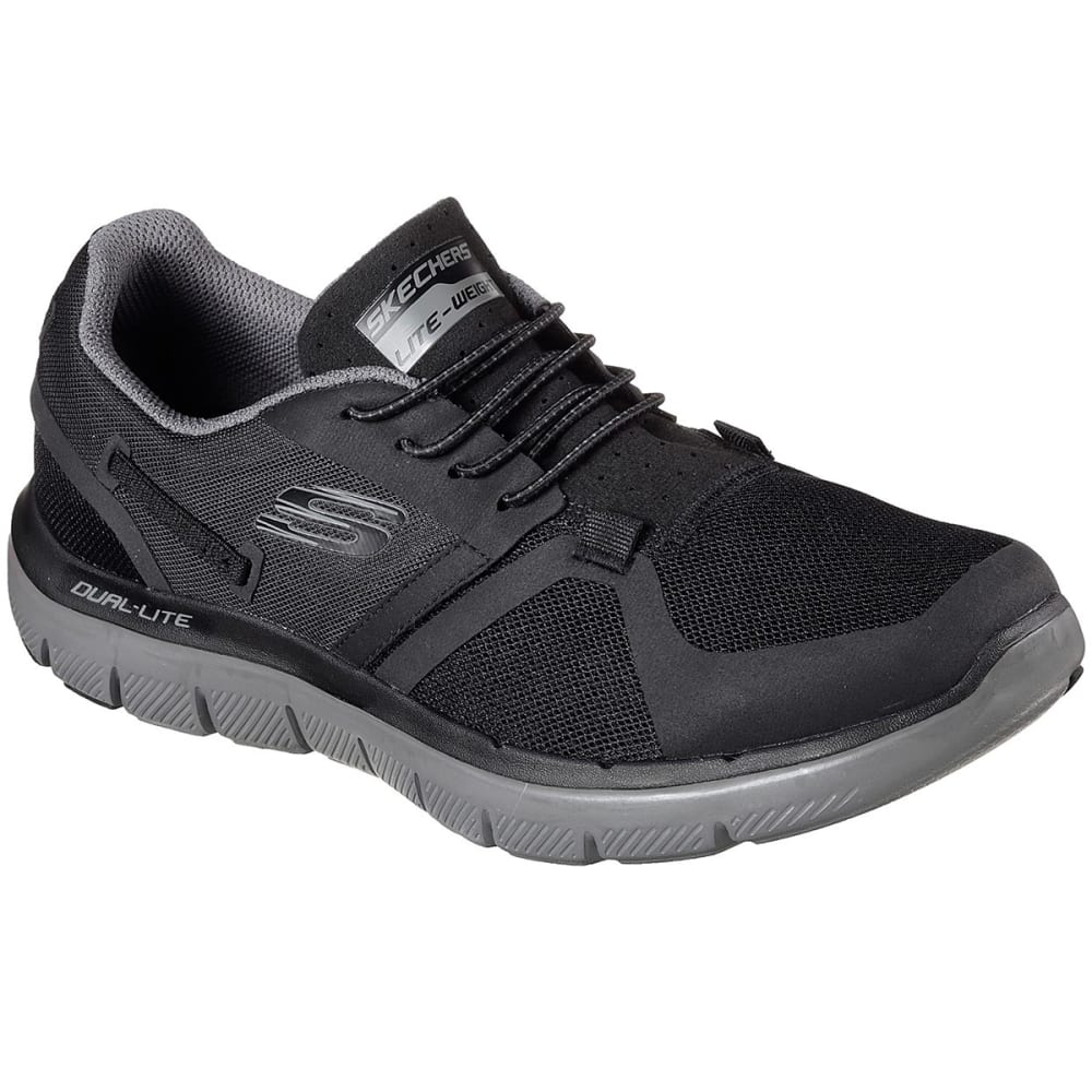 SKECHERS Men's Flex Advantage 2.0 – Cauther Training Shoes - BLK/CHR-BKCC