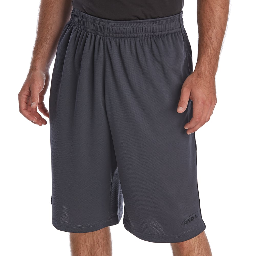 AND1 Men's High Status Basketball Shorts - EBONY-S744