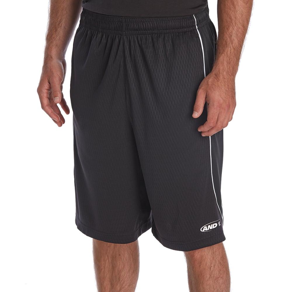 AND1 Men's Ball Hawk Basketball Shorts - BLACK-S143