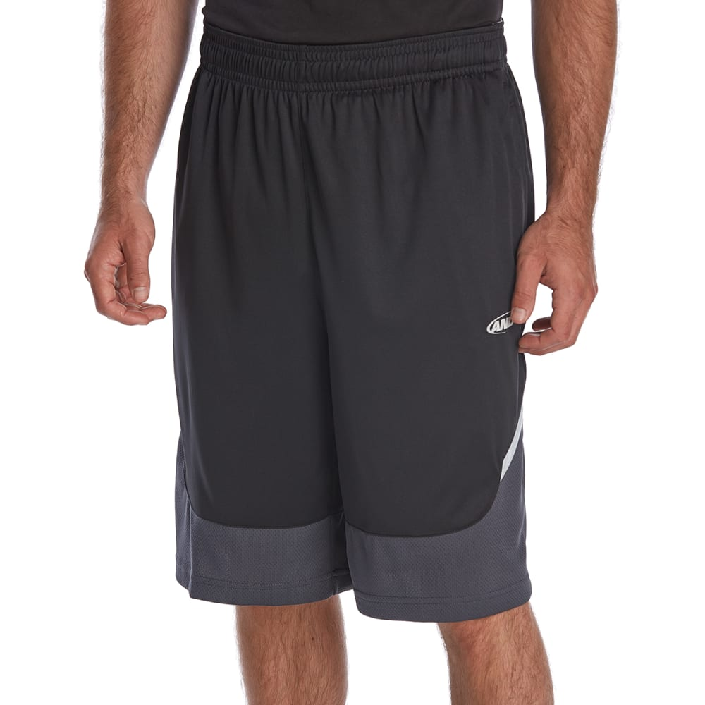 AND1 Men's Center Court Basketball Shorts - BLACK-S143