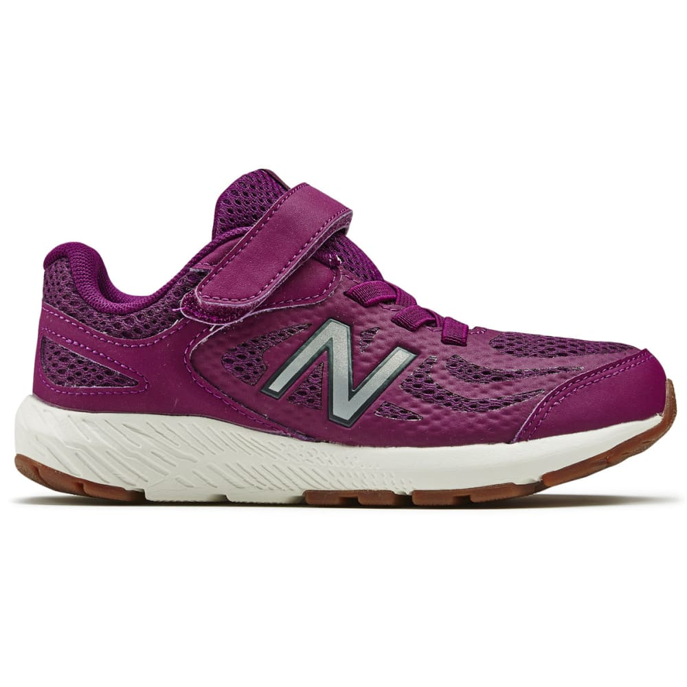 NEW BALANCE Little Girls' Preschool 519v1 Alternate Closure Running Shoes - IMPERAIL