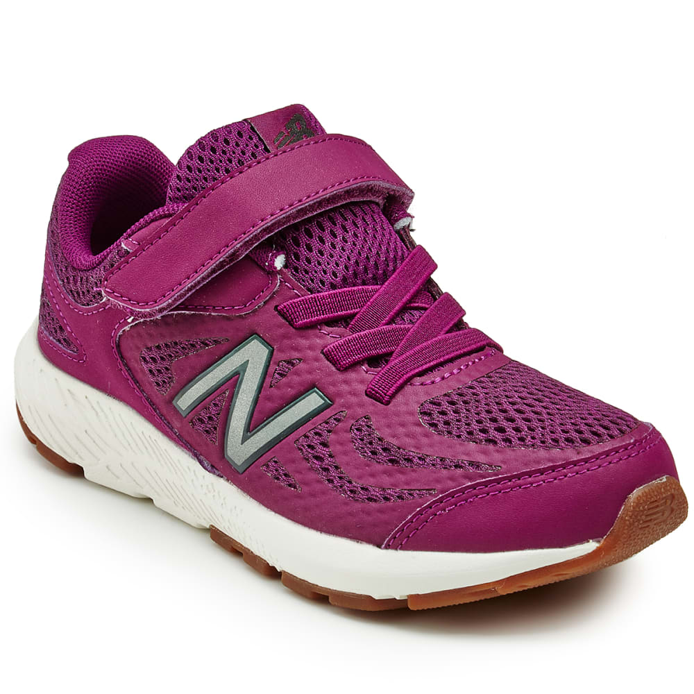 New Balance Little Girls' Preschool 519V1 Alternate Closure Running Shoes - Purple, 1.5