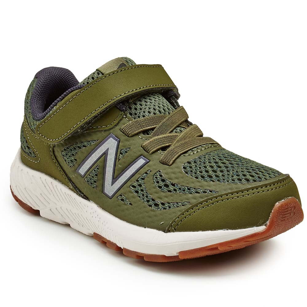NEW BALANCE Little Boys' Preschool 519v1 Alternate Closure Running Shoes, Wide - DARK CONVERT GREEN