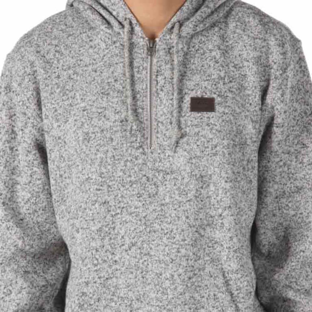 VANS Guys' Flurry Half Zip Pullover - 99P-LUNAR ROCK HTR