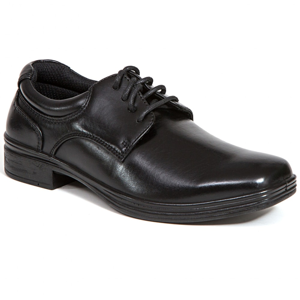 DEER STAGS Big Boys' Blazing Oxford Dress Shoes - BLACK