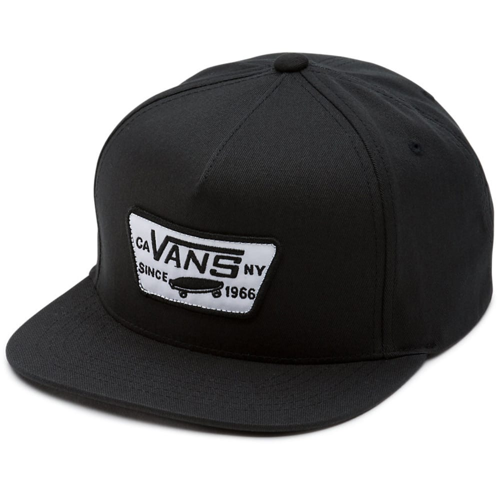VANS Guys' Full Patch Snapback Cap - 9RJ-TRUE BLACK