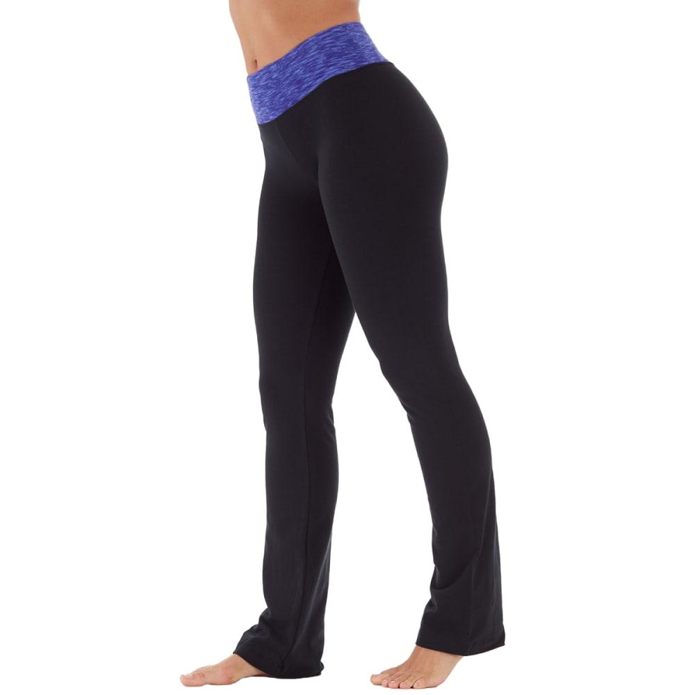 BALLY Women's Barely Flare Yoga Pants - BLK/BLUE WB-40G