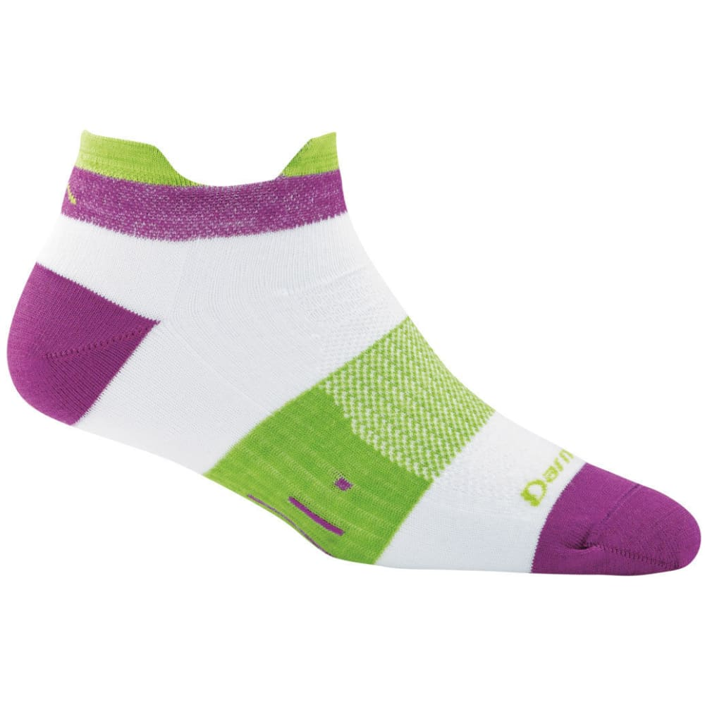 DARN TOUGH Women's Pulse Tab Light Cushion No-Show Socks - WHITE
