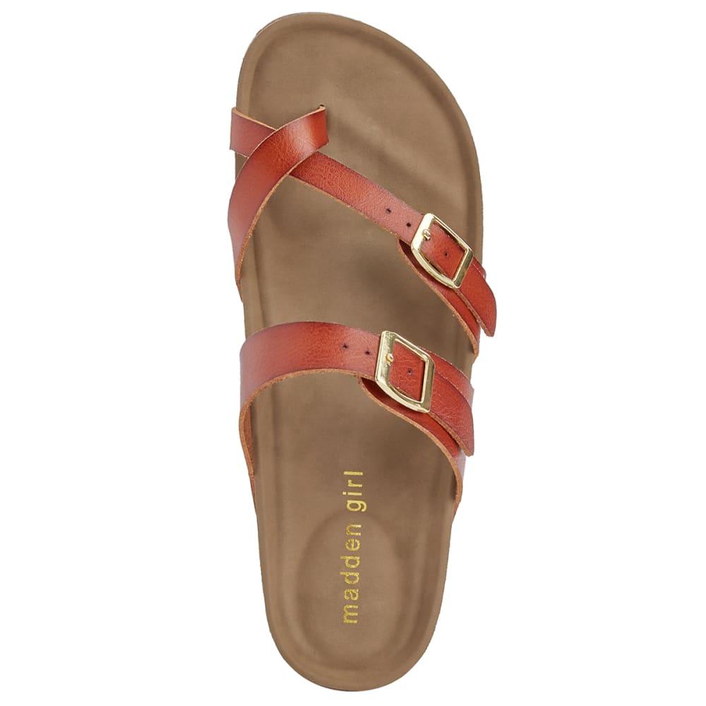 MADDEN GIRL Women's Brycee Toe Thong Sandals - COGNAC PARIS