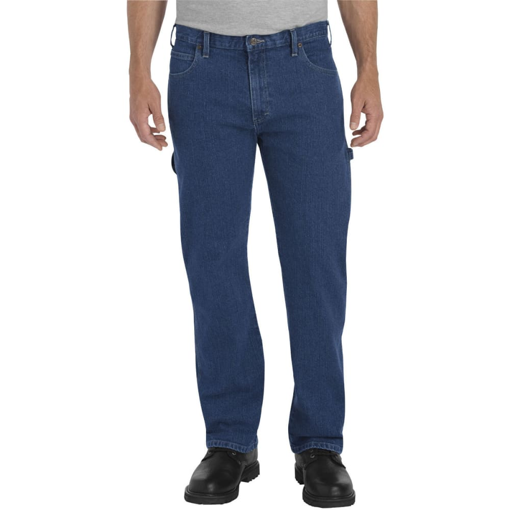 Dickies Men's Flex Relaxed Fit Straight Leg Carpenter Denim Jean - Blue, 30/30