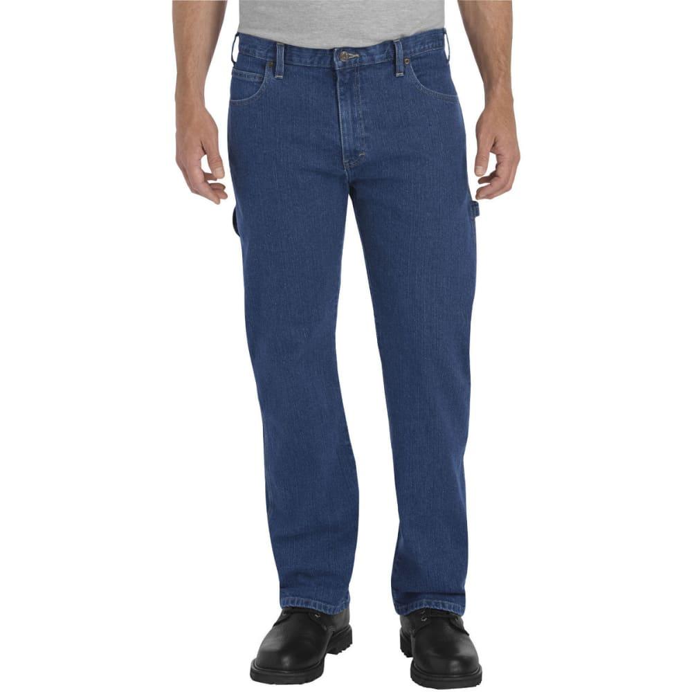 DICKIES Men's FLEX Relaxed Fit Straight Leg Carpenter Denim Jean 40/30