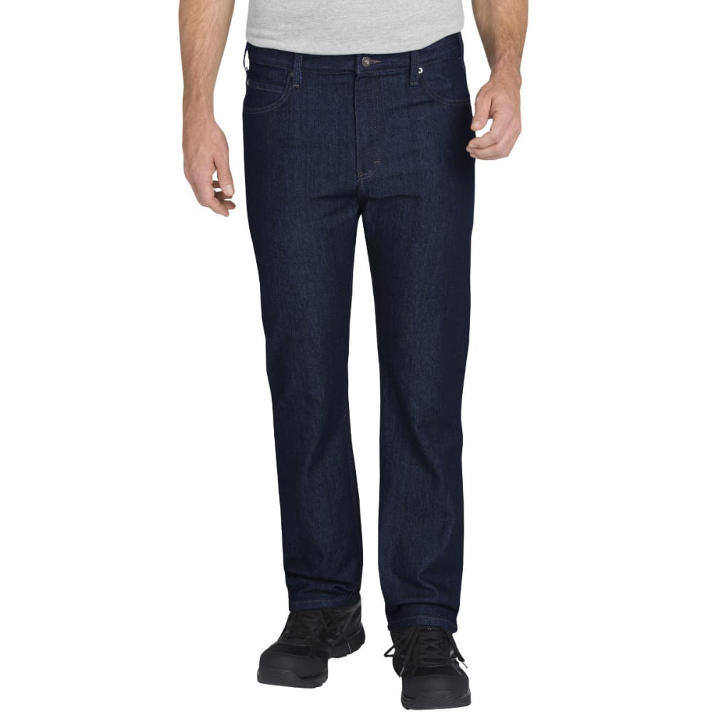 DICKIES Men's FLEX Regular Fit Straight Leg 5-Pocket Tough Max Denim Jean - RNSD INDIGO BLUE-RNB