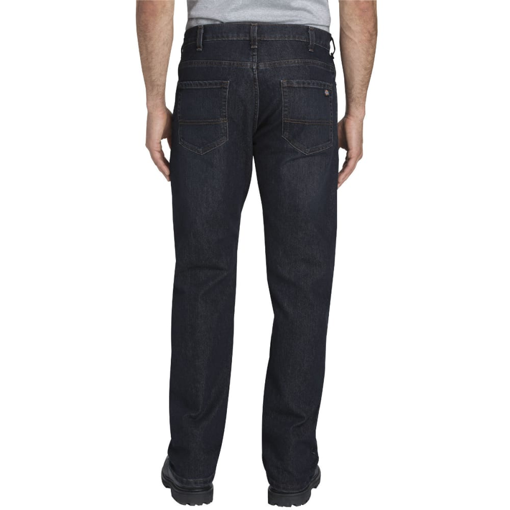 DICKIES Men's FLEX Regular Fit Straight Leg 5-Pocket Tough Max Denim Jean - TMBLD DK WASH-TDW