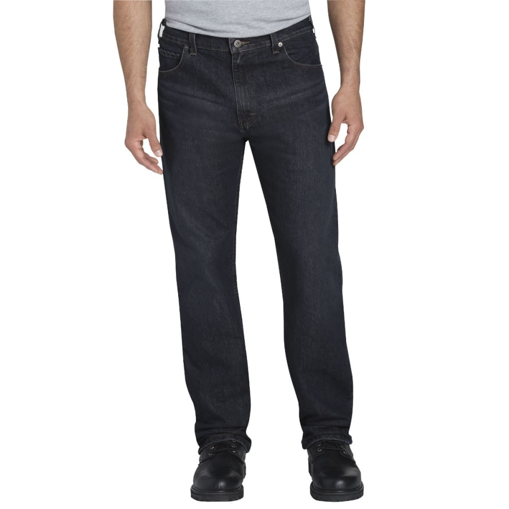 DICKIES Men's FLEX Regular Fit Straight Leg 5-Pocket Tough Max Denim Jean - TMBLD DK WASH-TDW