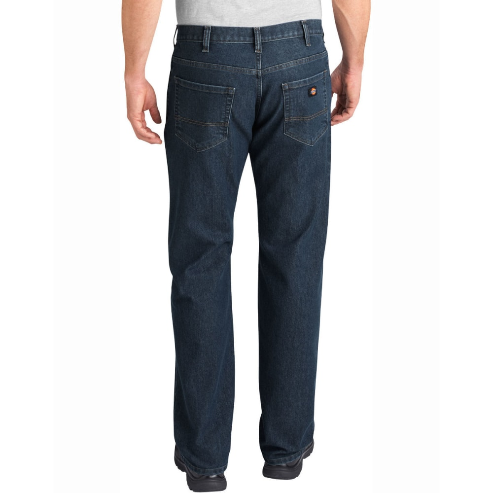 DICKIES Men's FLEX Relaxed Fit Straight Leg 5-Pocket Tough Max Denim Jean - HERTIAGE KHAKI-THK