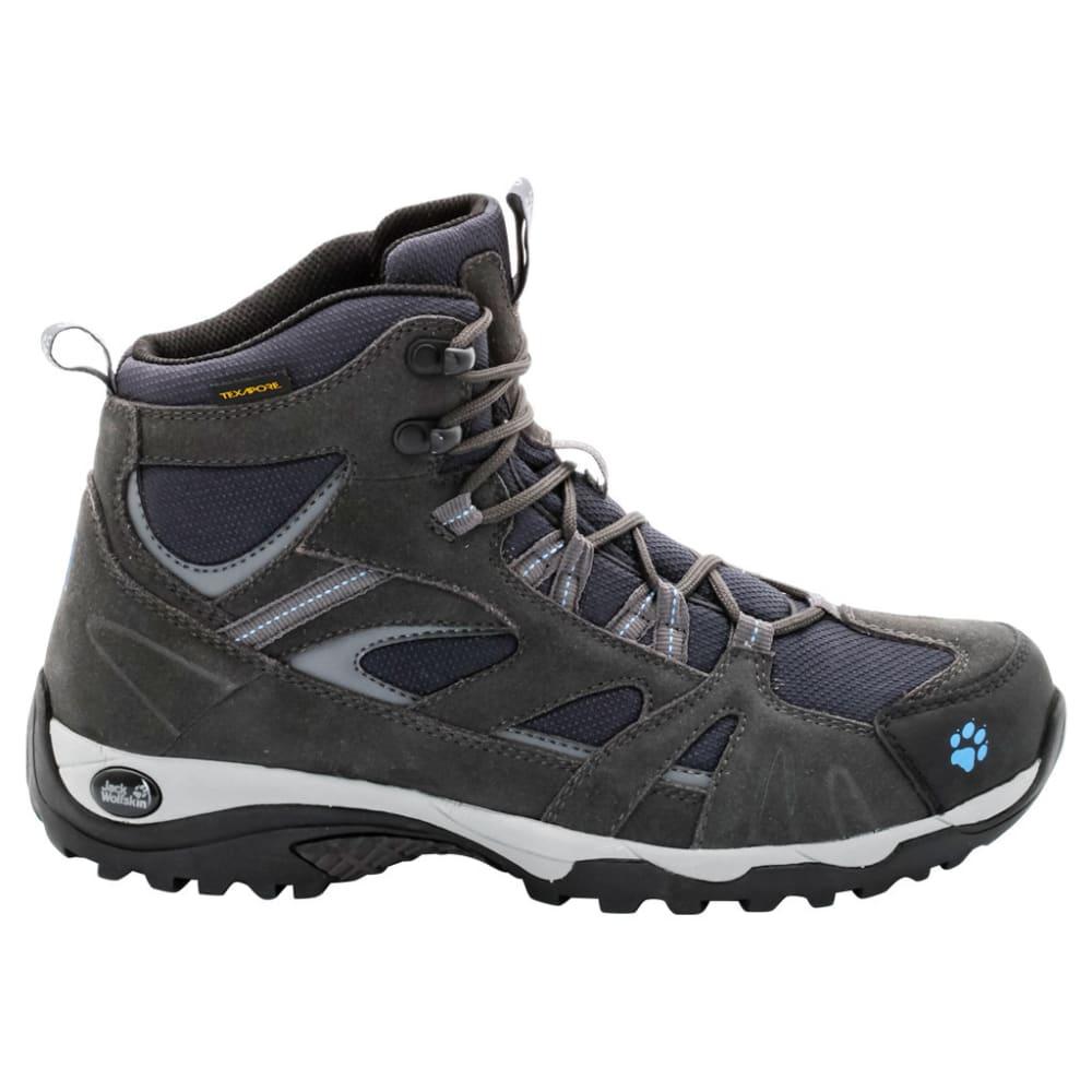 Jack Wolfskin Women's Vojo Mid Texapore Waterproof Hiking Boots, Light Sky - Black, 10
